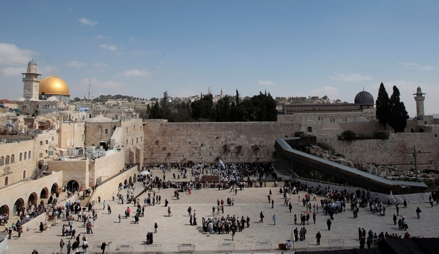 file photo: the dome of the rock, the western wall and the mughrabi gate is seen in jerusalem