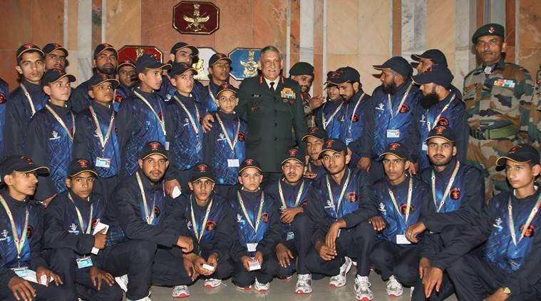 j & k students meet army chief